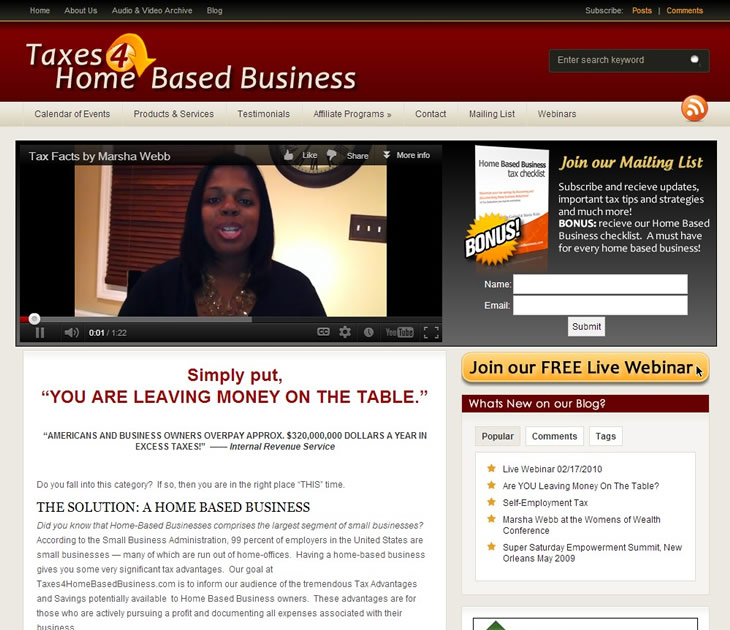 Taxes 4 Home Based Business