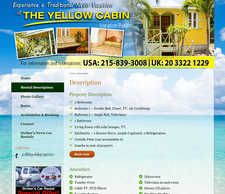 Yellow Cabin Nevis