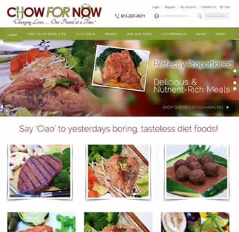 Chow For Now Foods - Ecommerce Website Design