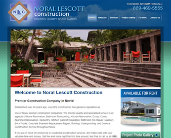 Lescotts Construction - Web Design