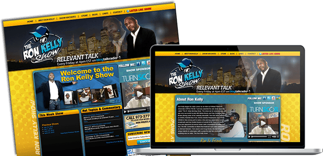 Featured Website Design - The Ron Kelly Show